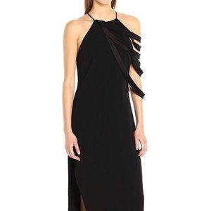 New Halston evening gown . Black . Size 4